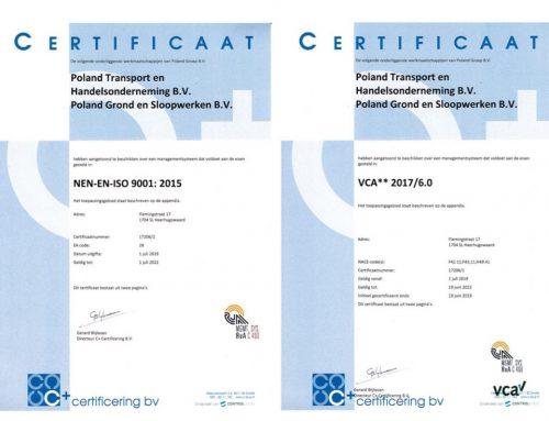 VCA** en NEN-EN-ISO 9001 gecertificeerd